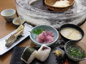 長寿定食(特上)鯉あらい付(3)