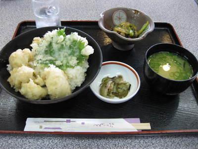 道の駅松山 ハモ天丼定食