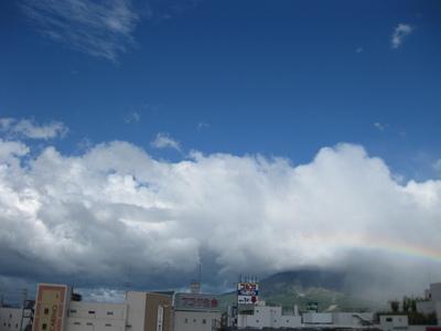 事務所から見えた虹の様子(1)