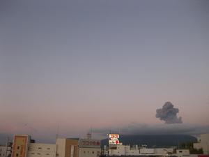 桜島噴火の様子8回目