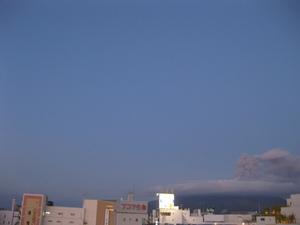桜島噴火の様子9回目