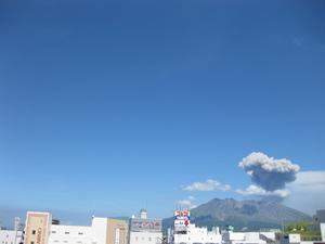 桜島噴火の様子10回目