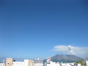 桜島噴火の様子11回目